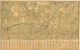 New Map of Central Quebec showing Counties-Townships, Railways-Highways, Lakes-Rivers-Resources =...