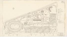 Master plan of the sport center, Maisonneuve park : Paving plan - 1957