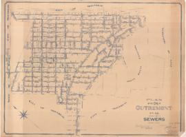 Plan of the City of Outremont, P.Q. Sewers. . - 1er septembre 1938