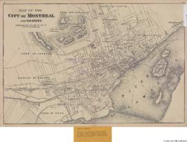 1875-1b: Map of the City of Montreal and vicinity. - 1875