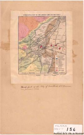 1883-1: Geological map of the region around Montreal. - 1883