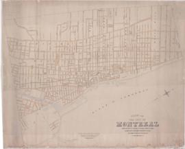 1883-2: Plan of the City of Montreal compiled for the purpose of shewing [sic] streets, lanes, sq...