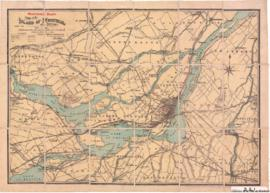 1906-2: Montreal Hunt Map of the island of Montreal and district / Compiled and drawn by J. Ewing...