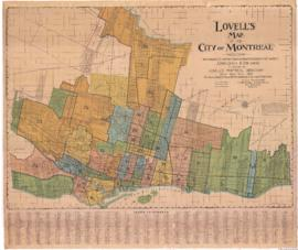 1920-3: Lovell's map of the city of Montreal including Westmount, Outremont, Verdun, Montreal-Wes...