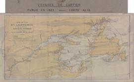 1923-1: Map of the St. Lawrence to illustrate Cartier's voyages. - 1923