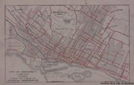 1927-1: City of Montreal & vicinity Canada showing the lines of the Montreal tramways Co. - 1927