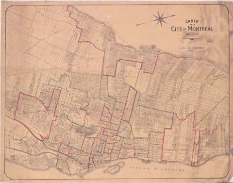 1930 1 Limites Des Quartiers à Montréal 1930 Archives