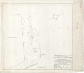 Municipal Golf : Plan showing existing drive and trees at tennis court entrance. - 23 août 1957