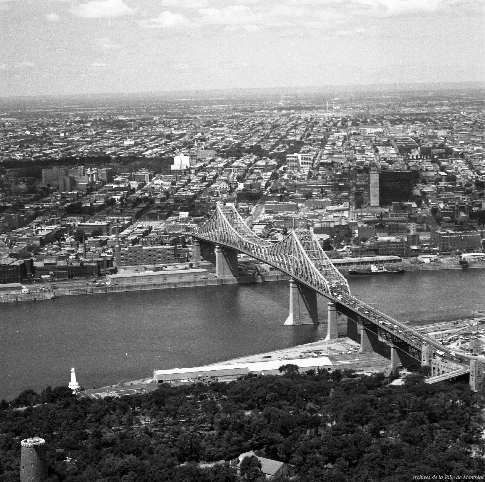 Pont jacques cartier office du tourisme 1966 archives de montr al - Office du tourisme de montreal ...