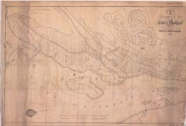 1854-2: A topographical Map of the City of Montreal & vicinity shewing [sic] the line of the ...