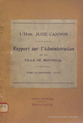 Rapport . - 1909