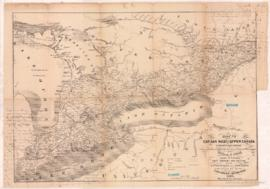New Map of Canada, New Brunswick, Nova Scotia &c. - 1867