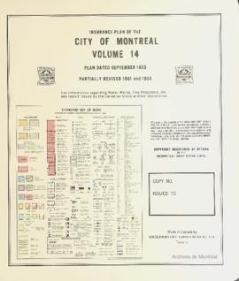 Insurance plan of city of Montreal, volume 14 / Underwriter's Survey Bureau Limited . - 1953 (rév...