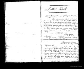 Letter book . - 26 avril 1839 - 26 juin 1840