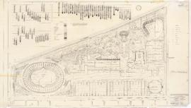 Master plan of the sport center, Maisonneuve park : Site plan - 1957