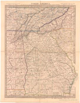 North America Sheet XII. Georgia with parts of North and South Carolina, Tennessee, Alabama and F...