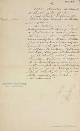 Notes sur la pétition du comté de Buckinghamshire . - 1825