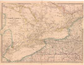 North America Sheet III. West Canada with Parts of New York, Pennsylvania and Michigan. - 1855