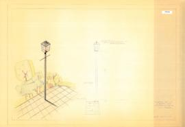 Ornamental safety light, « Lantern » model , Lafontaine children's zoo. - 25 mars 1957.