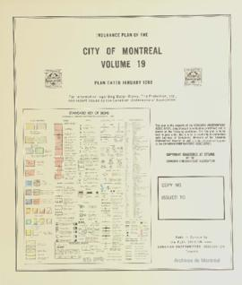 Insurance plan of city of Montreal, volume 19 / Underwriter's Survey Bureau Limited . - 1966
