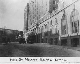 Peel Street : Mount Royal Hotel . - [192-]