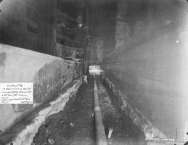 In Bell Telephone Company's vault : Corner of Notre-Dame & St. John St. showing trench & ...