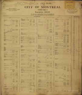 Insurance plan of city of Montreal, volume 1 / Underwriter's Survey Bureau Limited . - 1918 ...