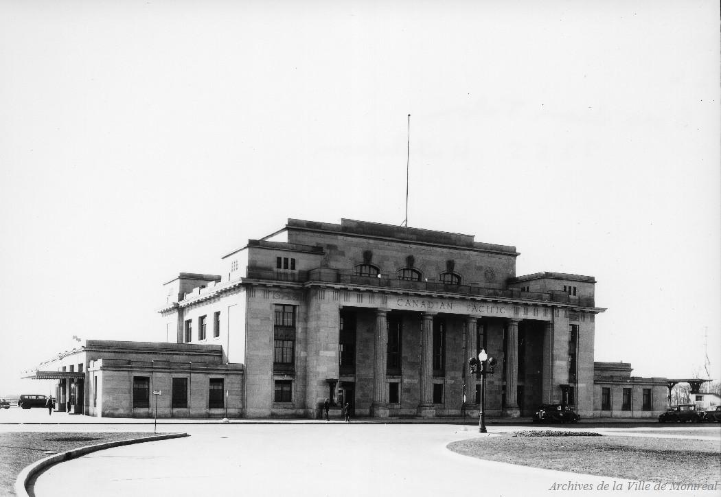 Gare Jean-Talon . - 9 avril 1936 CA M001 VM094-Y-1-17-D0131