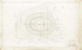 Master plan of the sports center, Maisonneuve park : Stadium, alternate plan for baseball. - 1957