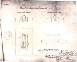 1693-2: Plan of the Magazine at Montreal. No 11. - [19-] (original créé en 1823)