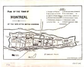 1758-3: Plan of the town of Montreal at the date of the british occupation. - [19-] (original cré...