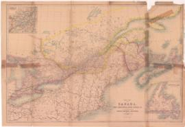 Map of Canada West or Upper Canada compiled from Government Plans Original Documents and Personal Observation by William Smith. Author of Canada Past Present and Future with alterations and additions to the present time for the Canadian Almanac. Maclear & Co. Toronto. - 1855