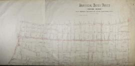 Plan showing location of valves and water mains. Montreal Water Works, Western Division. / Charle...