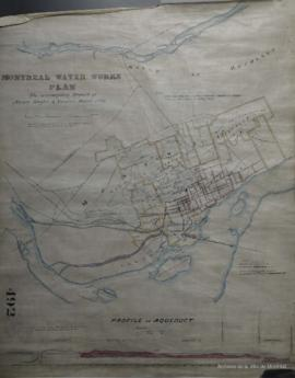 Profile of Aqueduct = Montreal Water Works Plan to accompany Report of Messrs. Keefer and Vanier,...