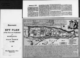 1759-1: Spy plan of the town and fortification of Montreal or Ville Marie in 1758. - [19-] (origi...