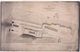 1821-2: Plan of government reserve, Montreal, showing the proposed ordnance buildings with the en...