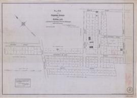 1833-1: Plan of a projected division into building lots of a property in the City of Montreal bel...