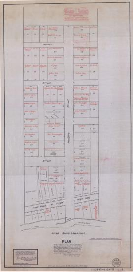 1835-1: Plan of the subdivision of part of the property of Herman Sever [sic] at the current St M...
