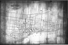 1853-5: Plan of the city of Montreal shewing [sic] the direction of the water pipes together with...