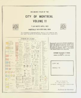 Insurance plan of city of Montreal, volume 11 / Underwriter's Survey Bureau Limited . - 1952...