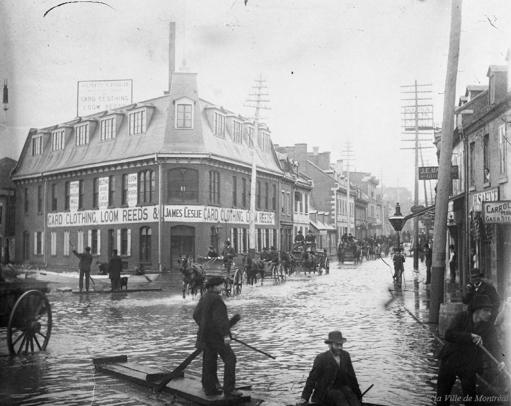 Inondation rue Saint-Antoine angle Craig: 1886 / Leclerc . - Reproduction le 13 janvier 1969 CA M001 VM094-Y-1-17-D1683