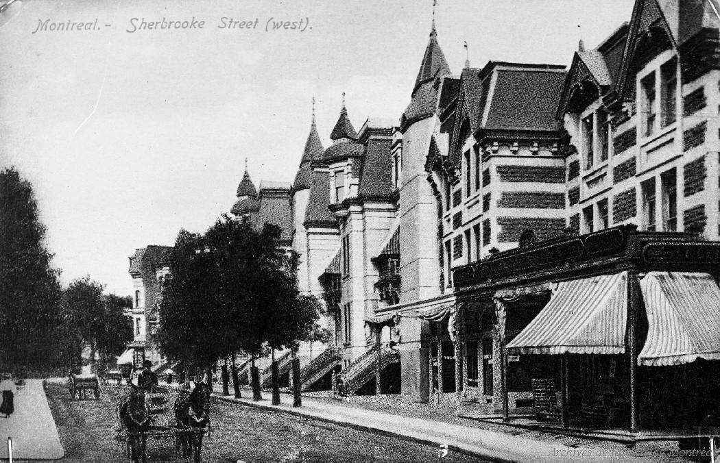 Archives de Montréal    Dossier D1733 - Rue de Montréal : [ca 1900] . - [Reproduction en 1969]