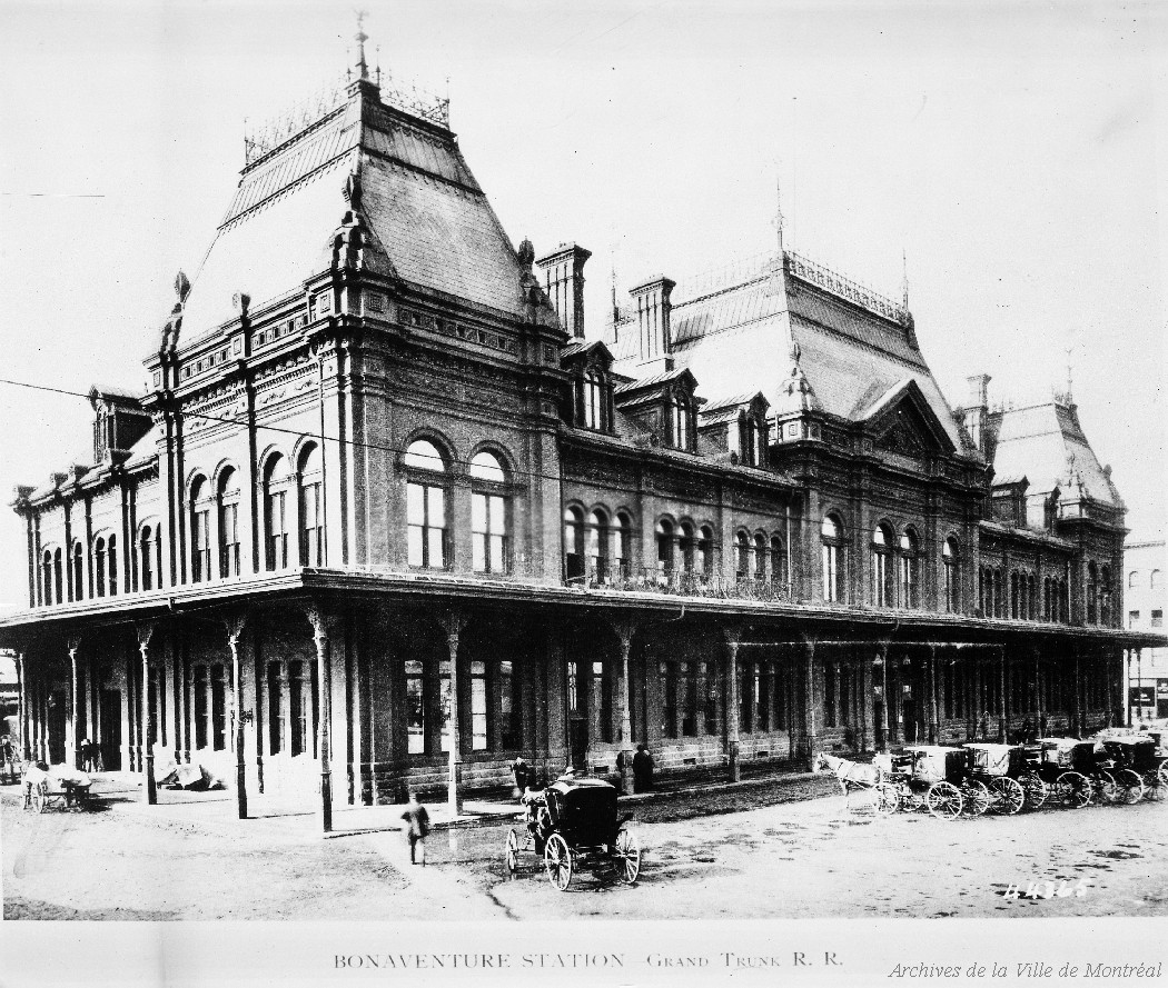 Gare Bonaventure, photo reproduite en 1969, VM094-Y-1-17-D1764