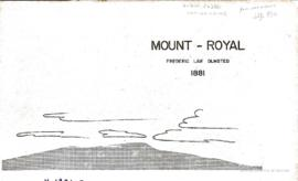 Mount Royal, Montreal. - 1881