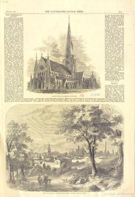 Vue de la cathédrale Christ Church à Montréal . - March 3 1860