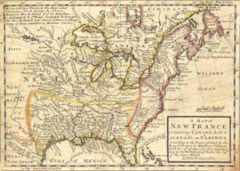 A map of New France containing Canada, Louisiana &c in Nth. America : According to the patent...