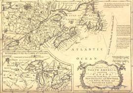 Part of North America containing Canada, the north parts of New England and New York; with Nova S...