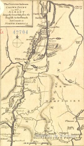 The country between Crown Point and Albany being the great pass from the English to the French se...