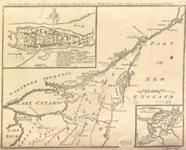 A particular map to illustrate Gen. Amherst's expedition to Montreal, with a plan of the town &am...