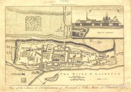 Plan of the town & fortifications of Montreal or Ville Marie in Canada : engraved for the Lon...